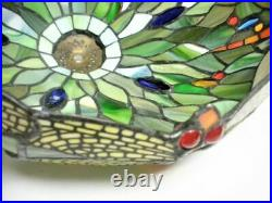 12 Dragonfly Leaded Slag Glass Lamp Shade Arts Crafts Mission Tiffany Style