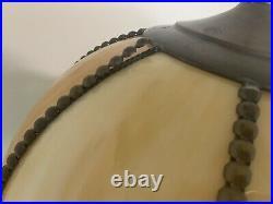 2 Vintage Slag glass Lamps (never Used)