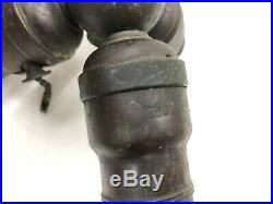 3 HUBBELL Socket Cluster for Handel Leaded Slag Glass Reverse Painted Lamp NR EX