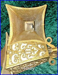 4 ea 1930s Art Deco Pagoda Post Lamps with Slag Glass Inserts (Super Scarce)