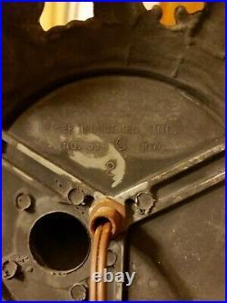 ANTE VTG EF EF INDUSTRIES Stained Slag Glass Lamp & Shade ANGEL VASE #338 1970