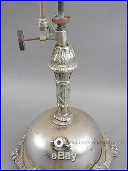 Antique Ag Kaufman New York Kerosene Lamp Slag Glass Shade