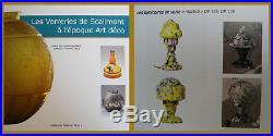 ANTIQUE ART DECO 1930 BELGIAN TABLE LAMP by SCAILMONT MUSHROOM GLOBE SLAG GLASS