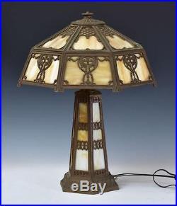 Antique Charles Parker Slag Gl Lamp