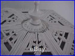Arts&crafts ML Co. 233 Miller Slag Glass Lamp, Sky House Tree Scene, Polychromed