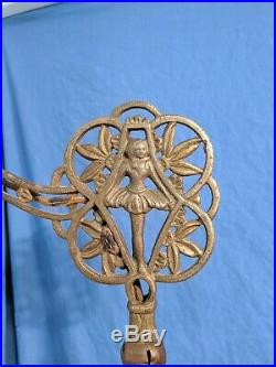 Antique Art Deco Jadeite Bridge Floor Lamp Agate Slag Glass