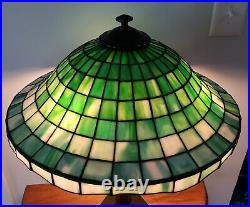 Antique Arts & Crafts Leaded Slag Stained Glass Suess Lamp Handel Tiffany