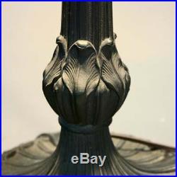 Antique Arts & Crafts Slag Glass Bradley & Hubbard School Table Lamp