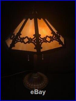Antique Bradley & Hubbard slag glass Lamp