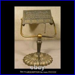 Antique E Miller Slag Glass Desk / Piano / Bookcase Lamp Weighted Base