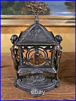 Antique Frankart nouveau arts crafts slag glass lamp handel bradley hubbard era