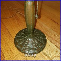 Antique Handel Boudoir Leaded Slag Stained Glass Lamp Base