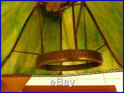 Antique Handel Slag Glass Lamp Shade (signed) For Oil Lamp