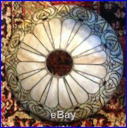 Antique J Whaley leaded glass lamp Handel Tiffany Duffner arts crafts era slag