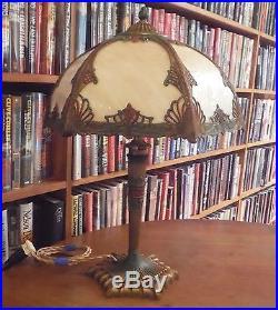Antique Miller Bent Slag Glass Lamp Bradley & Hubbard Pittsburgh Handel Styles
