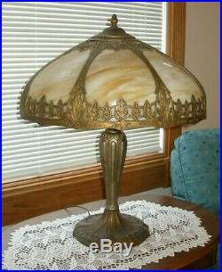 Antique Royal Art Glass Lamp Company Slag Glass Lamp Outstanding Handel B&h Era