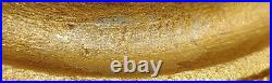 Antique SIGNED Golden Miller Table Lamp Slag Glass Shade 6 panels