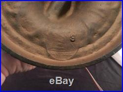 Antique Salem Bros. 12 Panel Bent Slag Glass LampArt NouveauButterfly Inserts