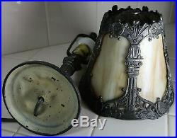 Antique Slag Glass Boudoir Lamp Small & Cute 1920s/30s