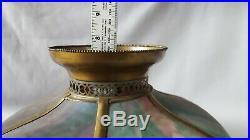 Antique Slag glass lamp shade Arts & Crafts era