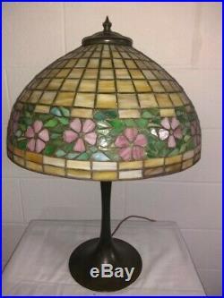 Antique Unique Arts Leaded Glass Lamp Handel Tiffany arts crafts slag era
