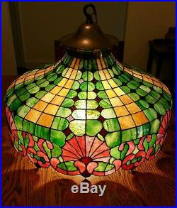 Antique leaded glass lamp stained glass slag glass duffner and antique leaded glass lamp stained glass slag glass duffner and kimberly mosaic mozeypictures Choice Image