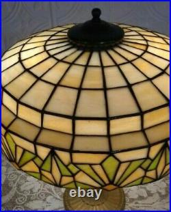 Art DECO Lamb & Greene leaded lamp Handel Tiffany arts crafts slag glass era