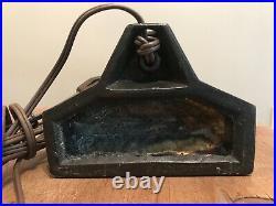 Art Deco 1920s Frankart Flapper Nymph Silhouette Slag Glass Lamp Billings 1989