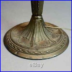 Arts & Crafts Antique Bradley & Hubbard School Slag Glass Table Lamp, circa 1920