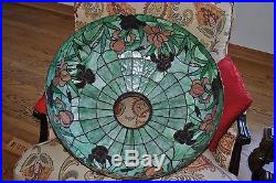 Arts&Crafts, Art Nouveau Williamson, Whaley, Handel Leaded Stained Slag Glass Lamp
