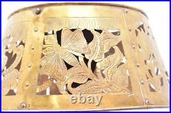 Arts & Crafts Mission Pierced Copper Brass Lamp Shade for Slag Glass or Mica