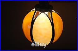 Arts&Crafts, Nouveau, Deco Signed Bradley&Hubbard Double Student Slag Glass Lamp