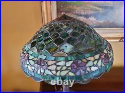 Arts&Crafts, Nouveau Era Handel Leaded Stained Slag Glass Lamp