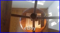 Arts&Crafts, Stickley, Mission, Prairie Era Sawn Golden Oak Table Slag Glass Lamp