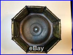 Arts and Crafts Art Nouveau Slag Glass Lamp Shade
