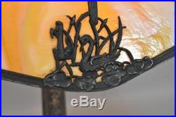 Bent Slag Glass Swan Lamp By Empire Lamp