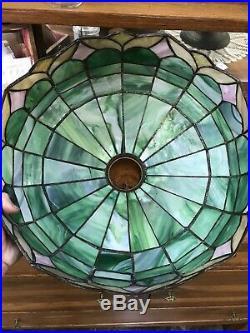 Bradley & Hubbard Arts & Crafts Leaded Glass / Slag Lamp Duffner Handel Era