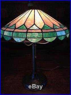 Decorative Arts Fast Deliver Antique Handel Glass Lamp Shade Pair Art Nouveau Arts Crafts Mission With A Long Standing Reputation Lamps, Lighting