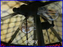 C. 1910 Wilkinson Slag Glass Lamp THE BEST