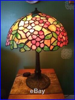 Chicago Mosaic leaded glass lamp Handel Tiffany Duffner arts & crafts slag era