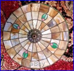 Chicago Mosaic leaded glass lamp Handel Tiffany Slag glass stained glass era