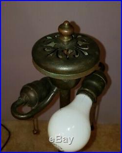Duffner & Kimberly Arts & Crafts Leaded Slag Glass Lamp Handel Tiffany Era