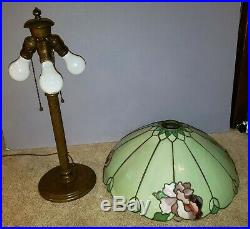 Duffner & Kimberly Arts & Crafts Leaded Slag Stained Glass Lamp Tiffany Era