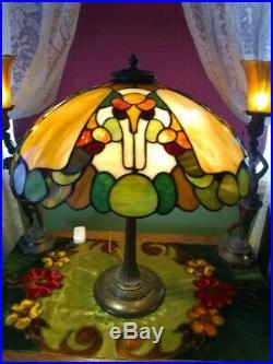 Duffner & Kimberly leaded lamp-Handel Tiffany slag glass arts crafts era