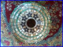 FINE Chicago Mosaic Leaded Lamp-Handel Tiffany Duffner arts crafts slag glass