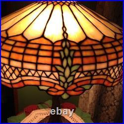 GORHAM leaded glass lamp Handel Tiffany studios arts crafts Victorian slag era