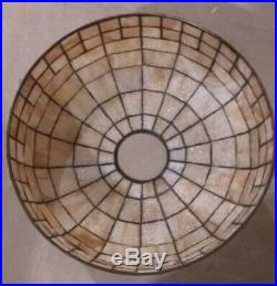 Geometric Unique Arts leaded lamp Handel Tiffany slag arts crafts Duffner era