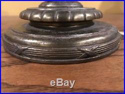 Handel Arts Crafts Leaded Slag Glass Reverse Painted Lamp Bradley Hubbard Era