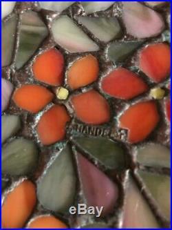 Handel Arts Crafts Mission Leaded Slag Glass Antique Bradley Hubbard Era Lamp