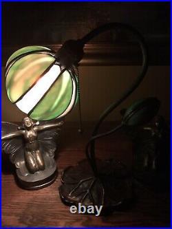 Handel Arts Crafts Tulip Slag Glass Antique Mission Lamp Bradley Hubbard Era